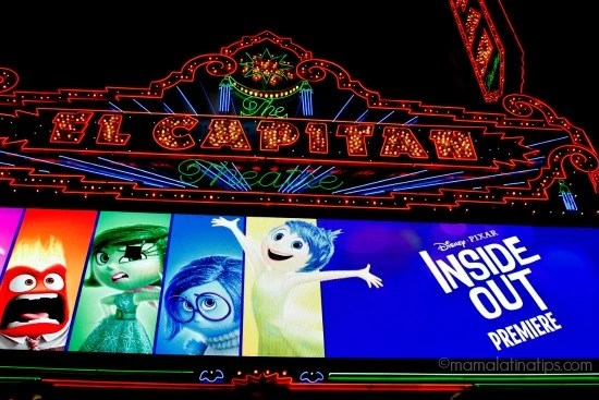 El Capitan Theater Marquee at night - Inside Out - mamalatinatips.com