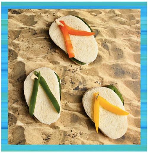 Flip flop sandwiches - Teen Beach Inspired Party - mamalatinatips.com