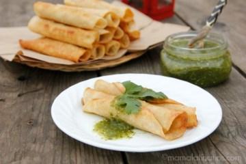 Chicken and Linguica Taquitos Dorados Recipe