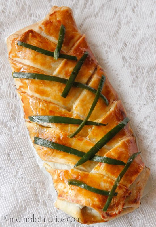 Poblano Peppers with Soy Sauce Pastry Braid