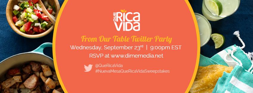 Que Rica Vida Twitter Party