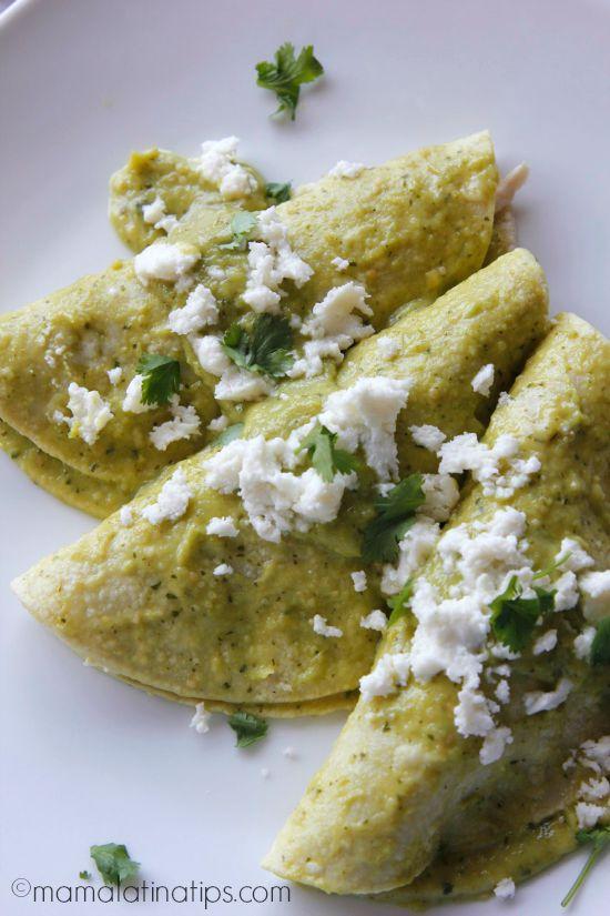 Enchiladas de Aguacate con Pollo