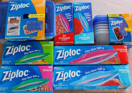 ziploc one press seal and easy open products