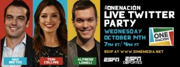 Come to the #OneNacion Live Twitter Party