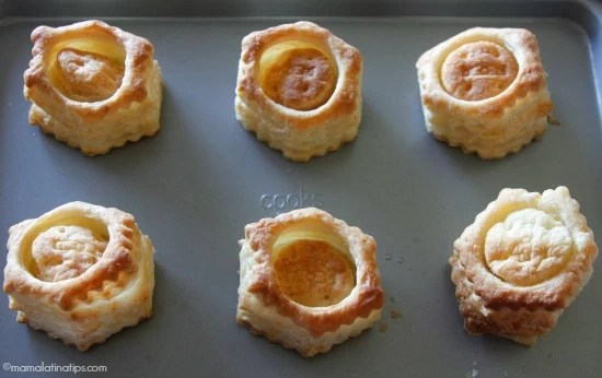 Puff pastry shells by mamalatinatips.com