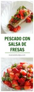 Pescado con Salsa de Fresas