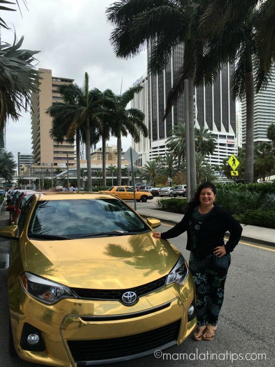 Golden Toyota Corolla - mamalatinatips.com