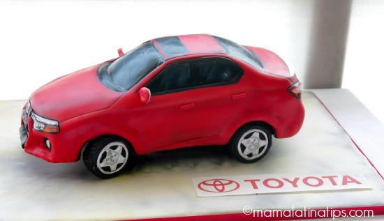 Toyota Corolla Cake - mamalatinatips.com