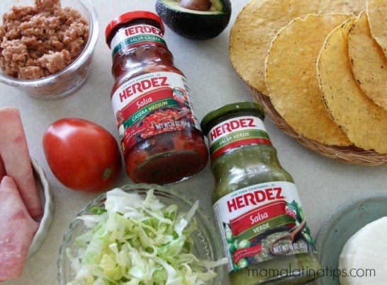 ham tostadas ingredients