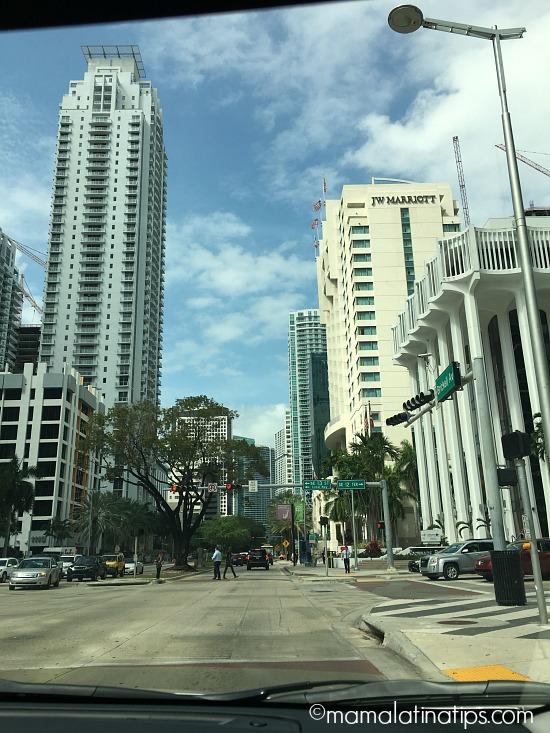 Driving through Miami in a Toyota Corolla - mamalatinatips.com