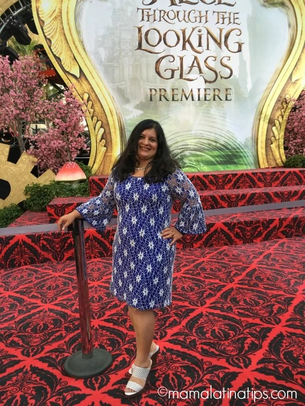 Alice through the looking glass red carpet premier Silvia Martinez - mamalatinatips.com