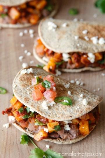 Chorizo and Potato Flatbread Sandwich