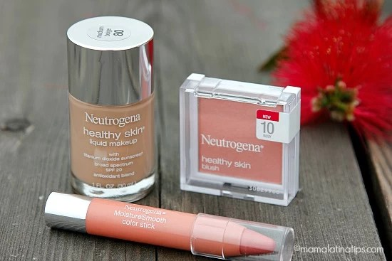 Neutrogena makeup, blush and lipstick - mamalatinatips.com