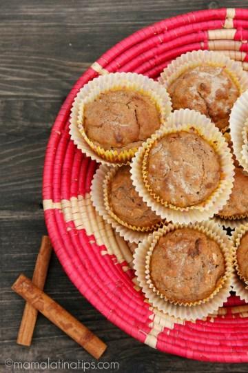 Apple Strawberry Multigrain Breakfast Muffins