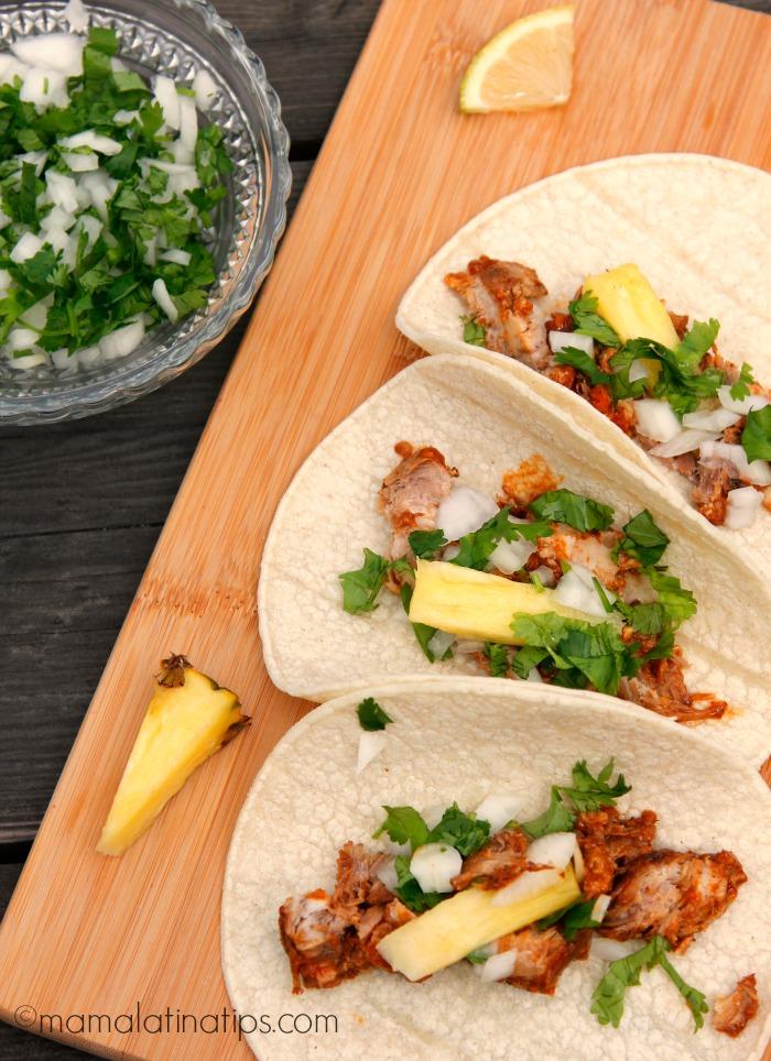 3 Tacos al Pastor. Mamalatinatips.com