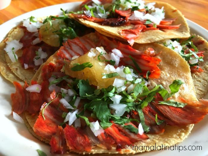 Tacos al Pastor Taquería. Mamalatinatips.com