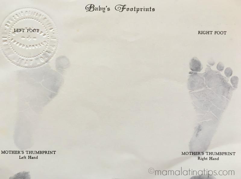 Baby's footprints by mamalatinatips.com
