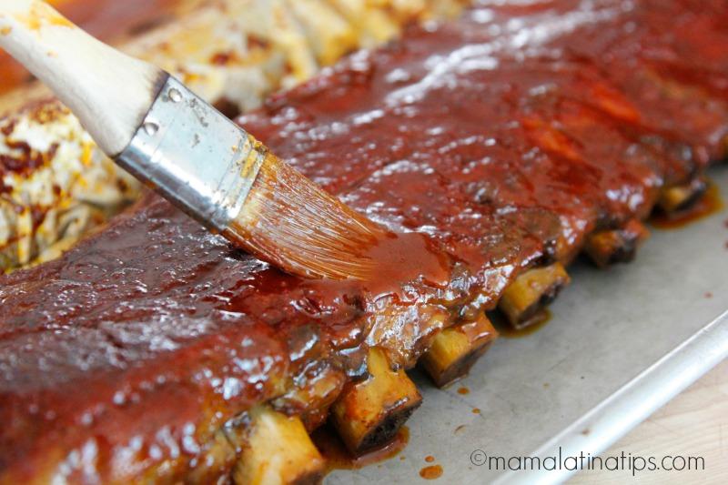 Costillas de cerdo con salsa de achiote