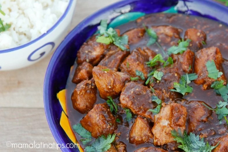 Pork Loin in Black Chile Sauce
