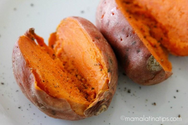 Baked sweet potatoes - mamalatinatips.com