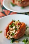 Tuna Stuffed Sweet Potato - mamalatinatips.com