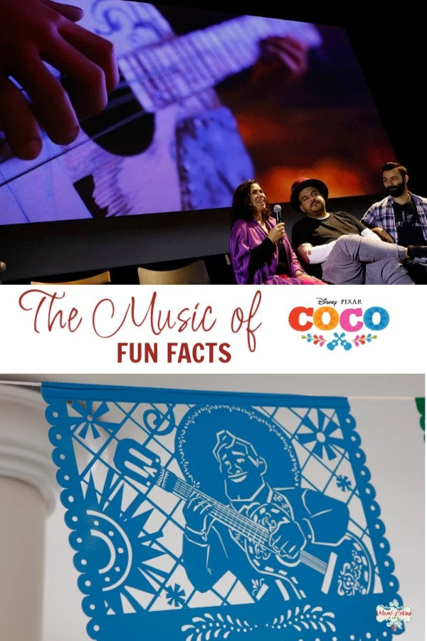 Check out fun insider facts about the music of Pixar Coco. Learn about the films songwriters, composers, musicians, and musical influences, told by Coco Music team. #mamalatinatips #pixarcoco #musicofcoco #pixarmovies