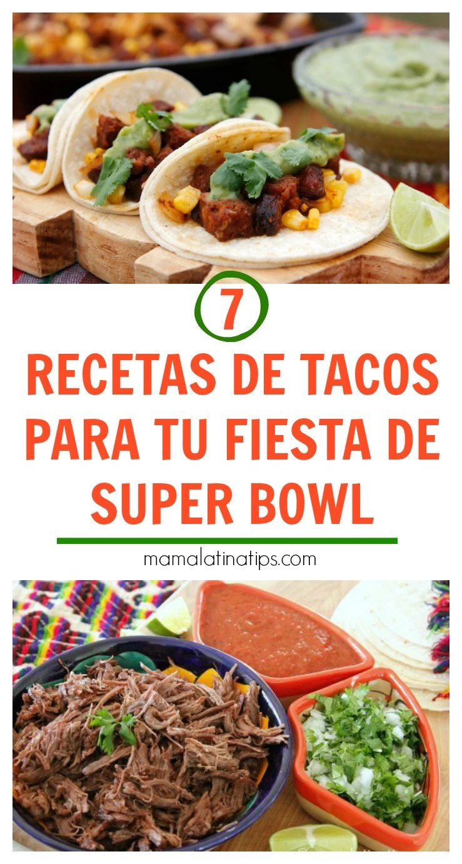 7 recetas de tacos para tu fiesta de super bowl