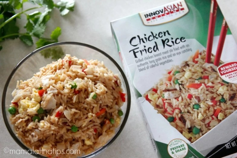 Innovasian chicken and fried rice