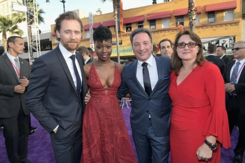 Tom Hiddleston, Danai Gurira, Louis D'Esposito and Victoria Alonso