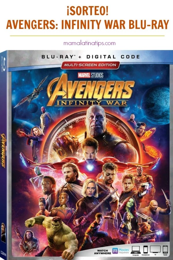 Entérate del contenido extra del Blu-ray Avengers: Infinity War y participa en el sorteo para la posibilidad de ganar una copia #sorteo #Avengers