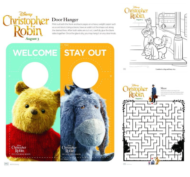 Winnie the Pooh and Christopher Robin Printables