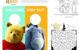 Dibujos Imprimibles de Winnie the Pooh y Christopher Robin – Gratis