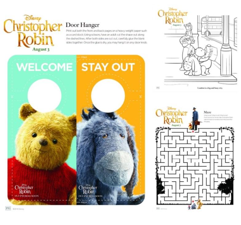 Dibujos Imprimibles de Winnie the Pooh y Christopher Robin - gratis