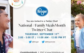 Come to the Kroger National #FamilyMealsMonth Twitter Chat