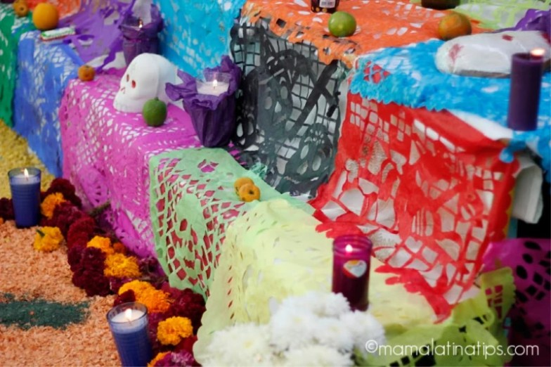 papel picado and skulls