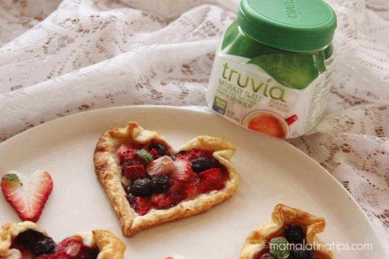 berry tarts with a Truvia Spoonable jar