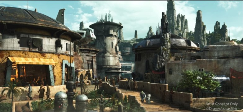 El Mundo de Star wars Galaxy's Edge en Disneylandia