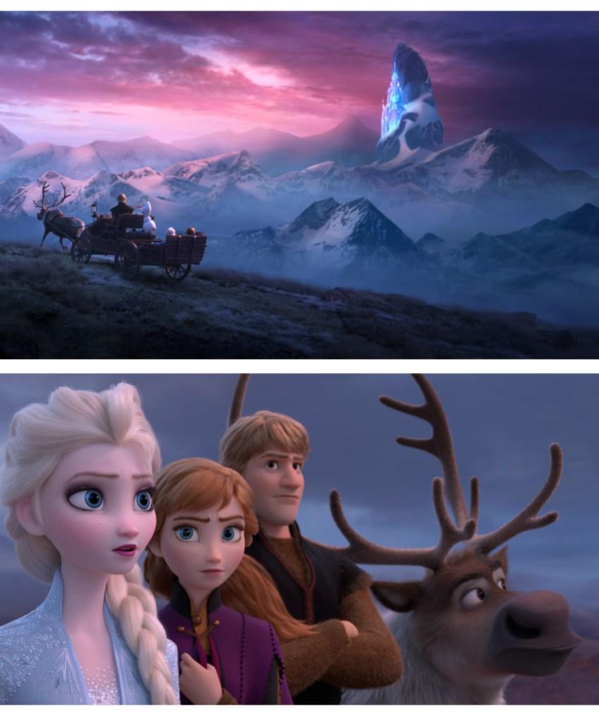 Escenas de la película Frozen 2 con sus personajes principales