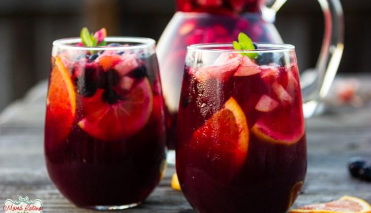 Pomegranate-Blueberry Sangria Mocktail
