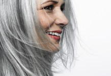 grey hair beautiful woman