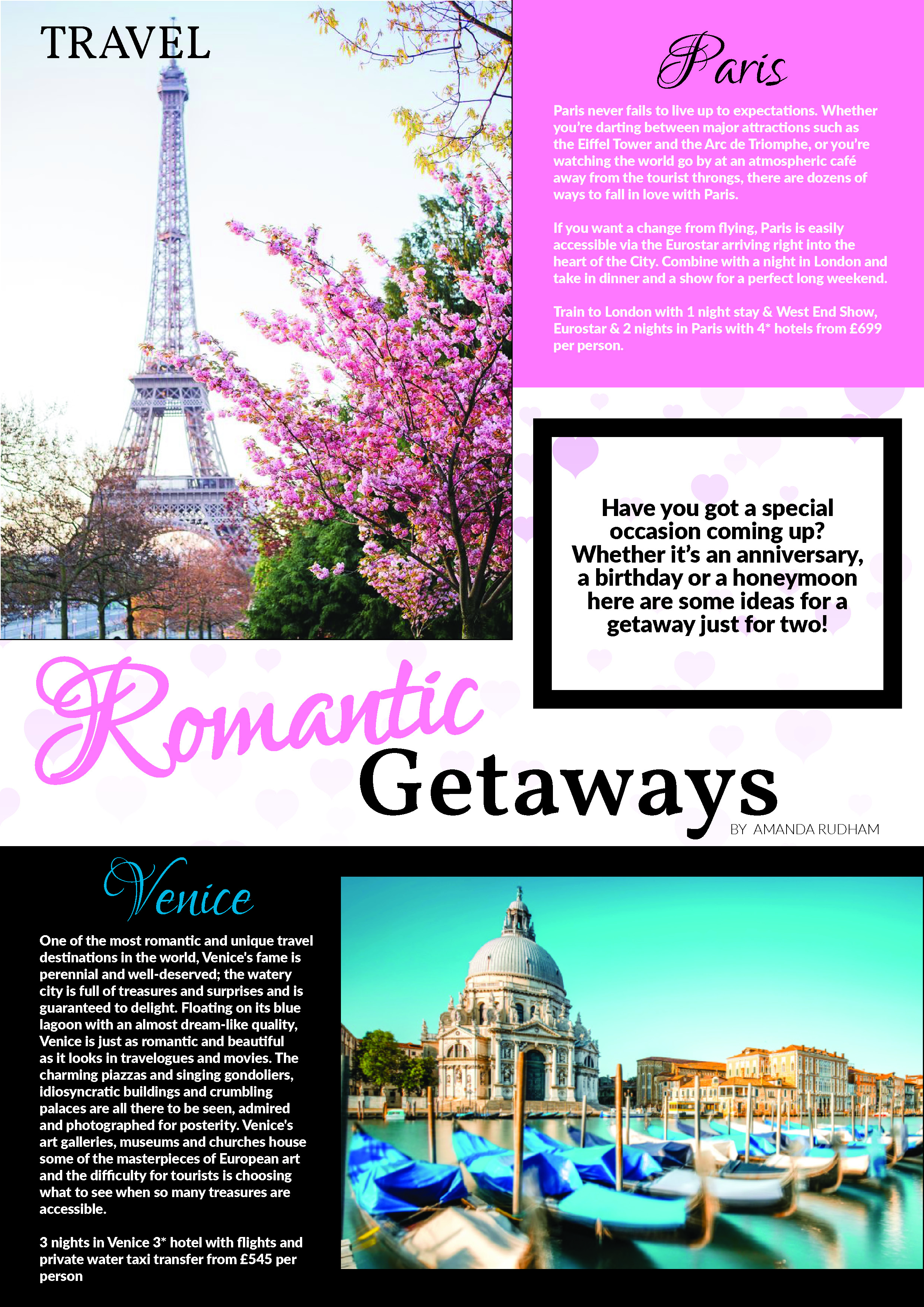 Travel, Romantic Getaways, Valentine Day