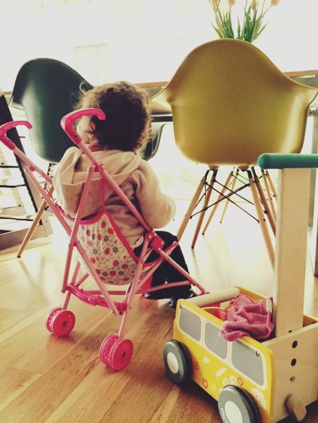 Der Kinderwagen und das Boarding