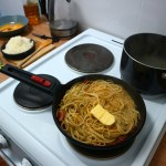 Carbonara butter and pasta