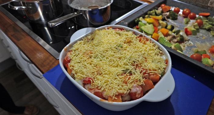 Vegetarian Lasagne shot