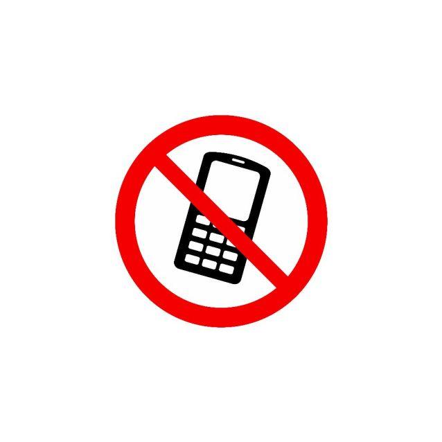 verboden bord met telefoon