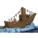 Stoomboot van karton | pakjesboot van karton