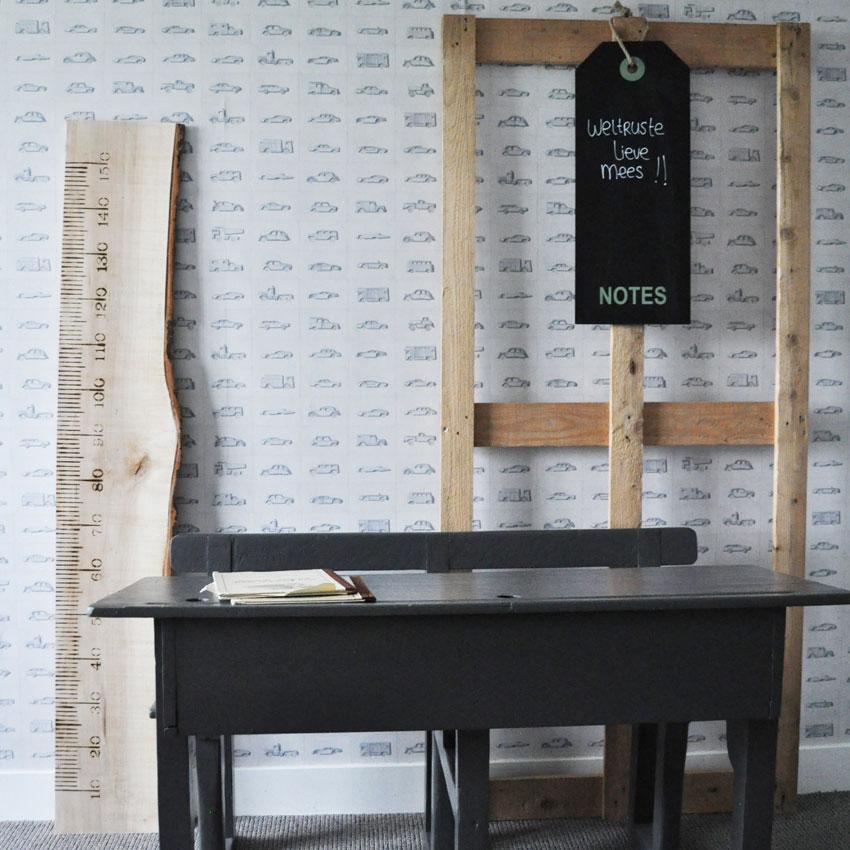 houten meetlat voor de kinderkamer