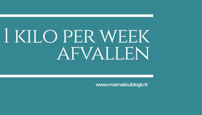 10 weken lang 1 kilo per week afvallen