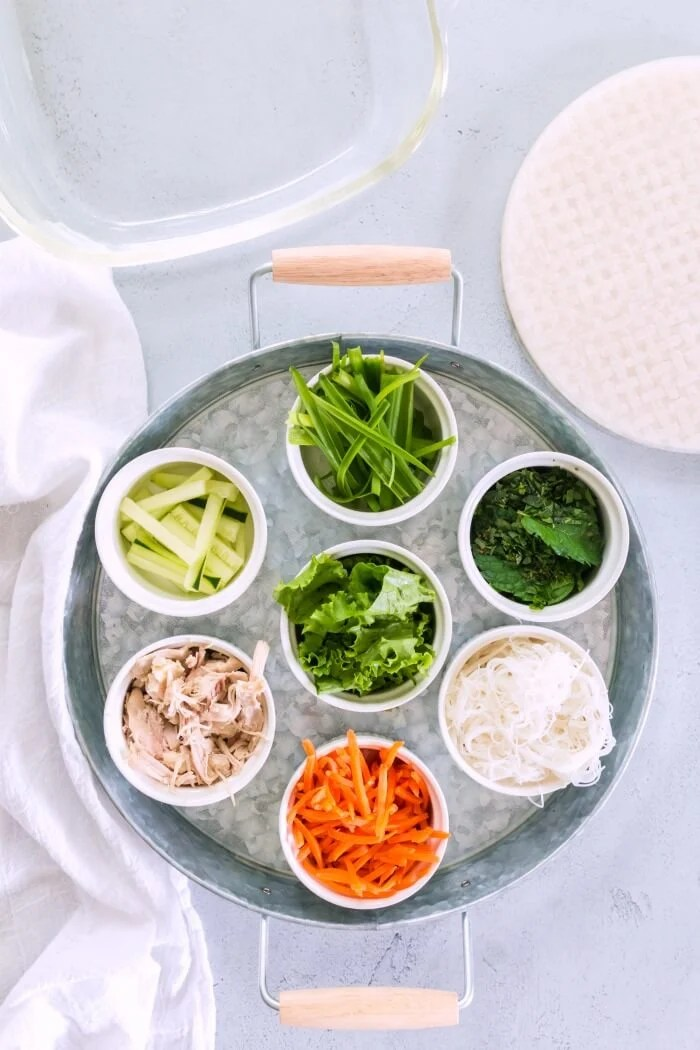 INGREDIENTS FOR SUMMER ROLLS
