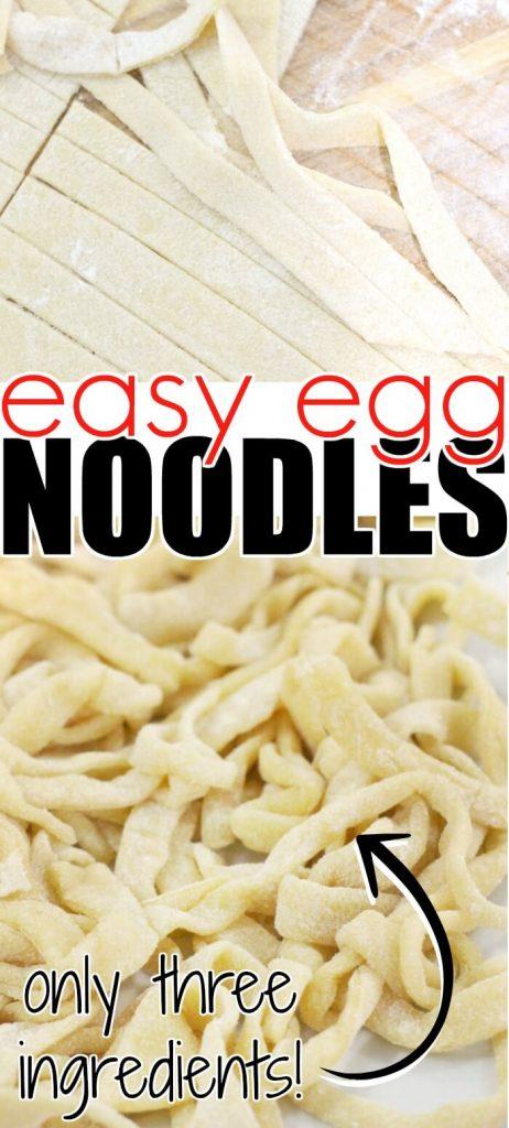 EASY EGG NOODLE RECIPE